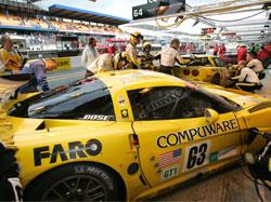 FARO三坐标测量扫描臂 和 Corvette 赛车 在胜利大道上携手飞驰