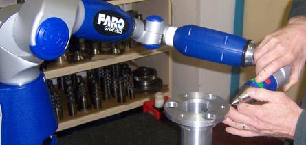 便携式三维激光测量机大大缩短了机械工程师的检查时间