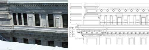 利用激光扫描仪 Laser Scanner 记录建筑物正面