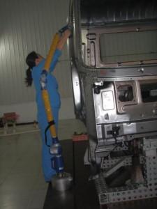 FARO Platinum Arm 铂金测量臂东风商用车身的应用
