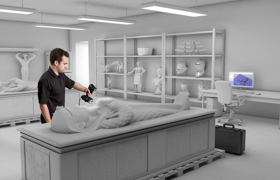 便携式 3D 扫描仪:Go!SCAN 3D